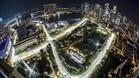 Imagen aérea del circuito urbano de Singapur
