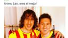La imagen que Carles Puyol subió a su cuenta de Twitter para animar a Leo Messi