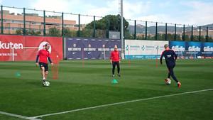 Iniesta sigue su recuperación pensando en el duelo contra el Chelsea