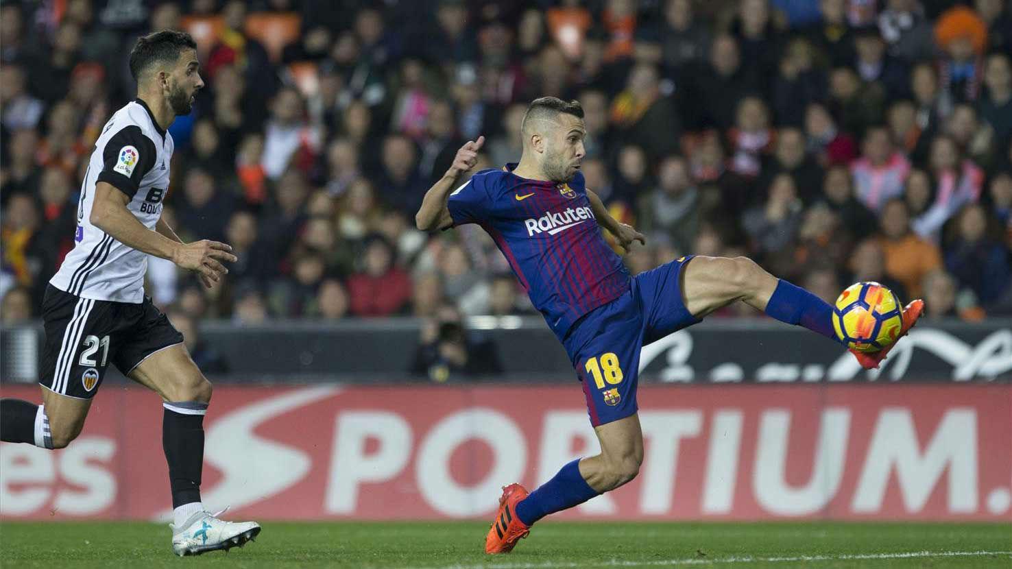 LALIGA | Valencia - FC Barcelona (1-1): El gol de Jordi Alba