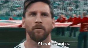 Lionel Messi aparece en el vídeo de la final de la Copa Libertadores