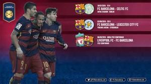 Los tres partidos del Barça en la International Champions Cup