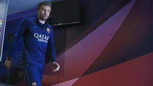 Luis Enrique en la Ciudad Deportiva Joan Gamper de Sant Joan Despí durante su etapa como entrenador del FC Barcelona