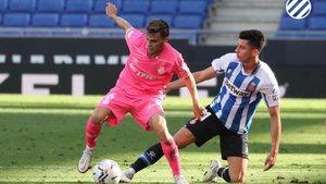 Marc Roca, en la rampa de salida del Espanyol.