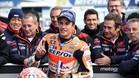 Márquez celebra su mejor tiempo en la Q2 de Australia