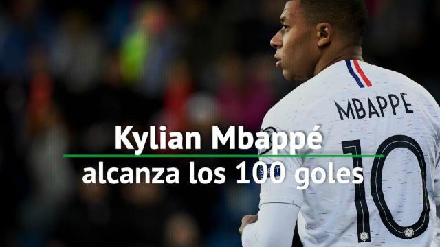 Mbappé llega a los 100 goles y bate un récord de precocidad con 20 años