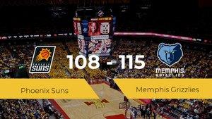 Memphis Grizzlies vence a Phoenix Suns por 108-115