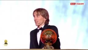 El Modric más feliz tras recibir el Balón de Oro