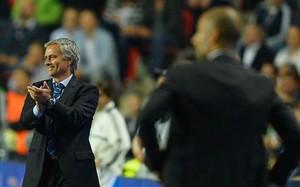 Mourinho y Guardiola, durante su último enfrentamiento en la Supercopa de Europa de 2013