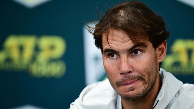 Nadal, tras retirarse de las semifinales del Masters de París: Espero poder estar listo para Londres