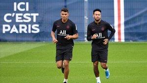 Neymar, en un entrenamiento