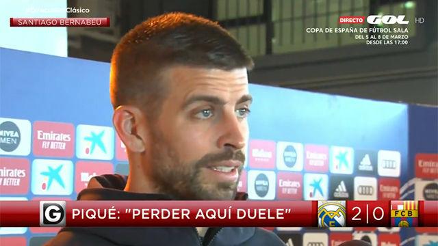 Piqué: He visto a uno de los Madrids que transmitía peores sensaciones desde que estoy aquí