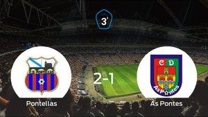 El Pontellas consigue la victoria en casa frente al As Pontes (2-1)