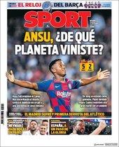 Portada de Sport del 15 de septiembre de 2019