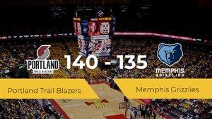 Portland Trail Blazers vence a Memphis Grizzlies (140-135)