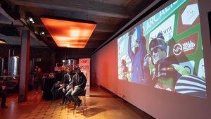 Presentación en la fábrica Moritz de Barcelona