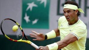 Rafa Nadal derrotó a Yannick Hanfmann en su primer partido de Roland Garros