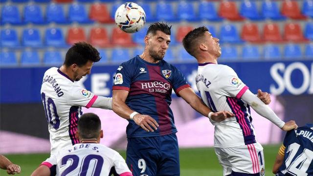 Reparto de puntos entre Valladolid y Huesca