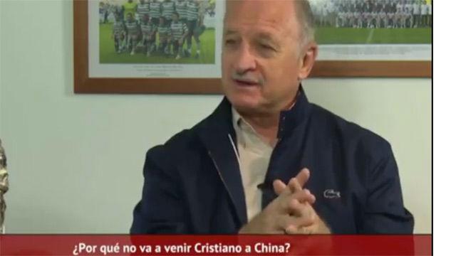 Scolari asegura que Cristiano le ha preguntado por el fútbol chino