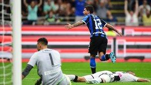 Sensi llefvó el timón del Inter y marcó el único gol del duelo ante Udinese.