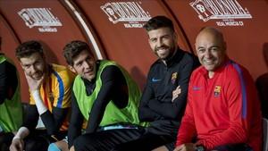 Sergi Roberto y Pîqué son dos puntales que el Barça quiere renovar cuanto antes