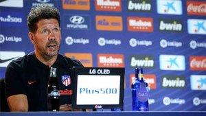 Simeone se centró en el partido, nada de polémicas.