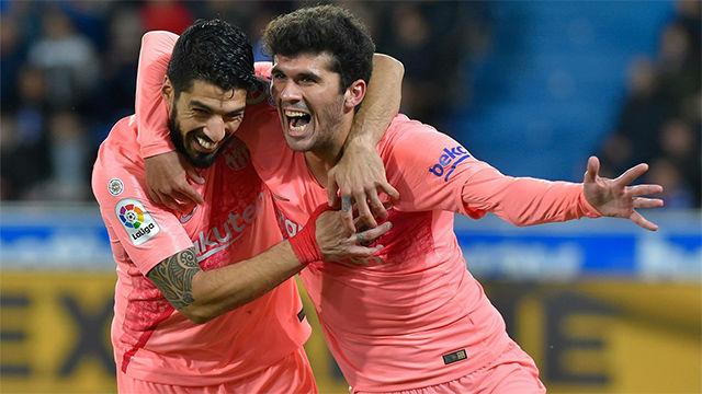 Suárez asistió sin tocar el balón y Aleñá no falló