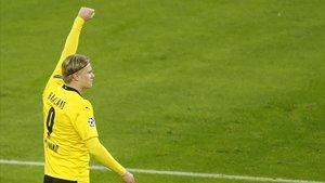 Sumadas todas las competiciones, Erling Haaland suma 17 goles en 13 partidos con el Dortmund