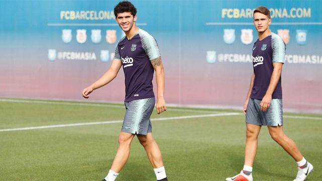 Último entrenamiento del Barça antes de medirse a Boca Juniors en el Gamper