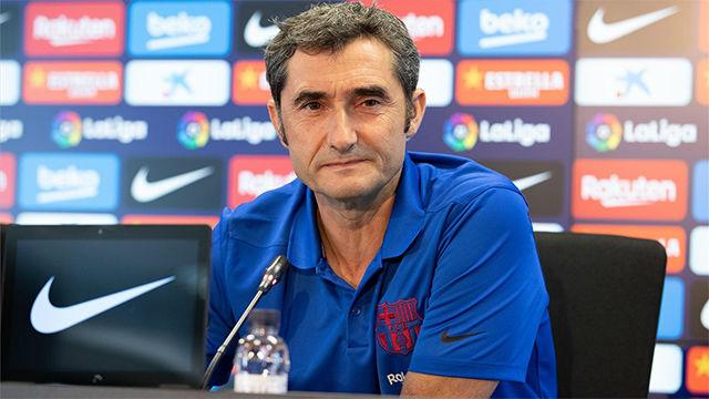 Valverde no quiere hablar del tema Dembélé