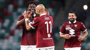 Zaza celebrando el gol de la clasificación