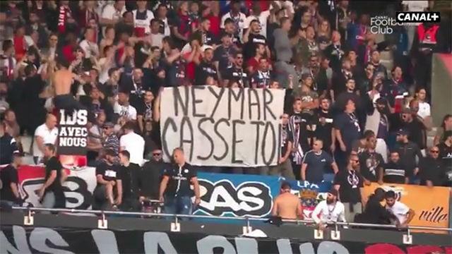 La afición del PSG respondió a Neymar con cánticos en su contra