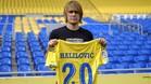 Alen Halilovic durante su presentación como jugador de la UD Las Palmas
