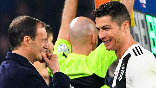 Allegri: La combinación Cristiano y Juventus no es Champions segura
