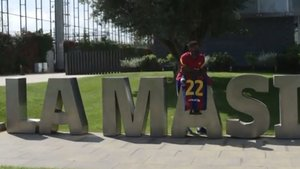 Ansu Fati, jugador de la primera plantilla del FC Barcelona
