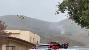 Así se veía desde Los Ángeles el lugar donde sucedió el accidente de Kobe Bryant
