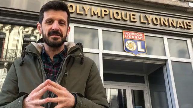 Así vive la afición el Lyon - Barça horas antes del partido
