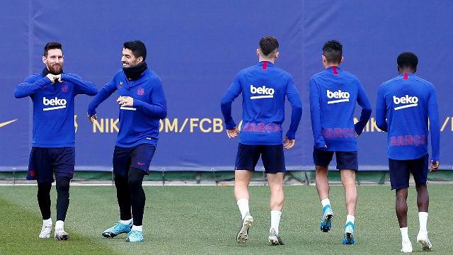 El Barça se entrena por última vez antes de medirse al Leganés