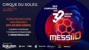 32% de descuento en el Cirque du Soleil de Messi por su cumpleaños