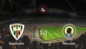 Empate 1-1 en el duelo de ida de los cuartos de final de los playoff entre Barakaldo y Hércules