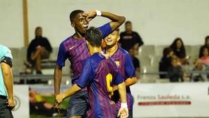 El equipo azulgrana festejó cinco goles