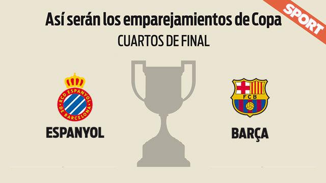 Espanyol - FC Barcelona - Cuartos de final de la Copa del Rey