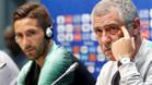 Fernando Santos no quiso revelar su táctica ante España