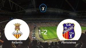 El Ferriolense suma tres puntos a su casillero frente al Felanitx (1-2)