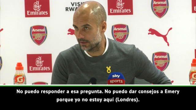 Guardiola: No soy nadie para dar consejos a Emery