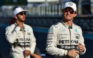 Hamilton y Rosberg se han enfrentado públicamente varias veces esta temporada