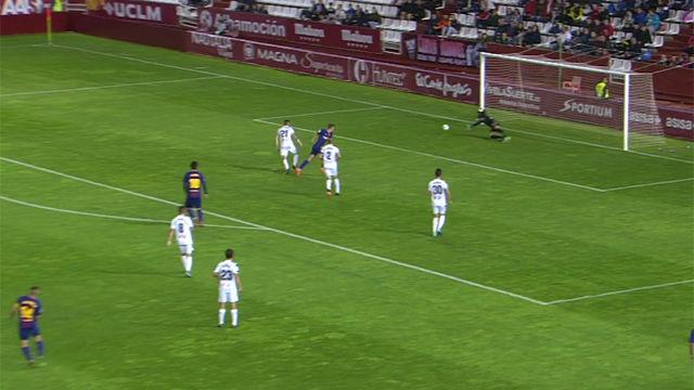 LALIGA | Albacete - FC Barcelona B (0-0): El paradón de Tomeu