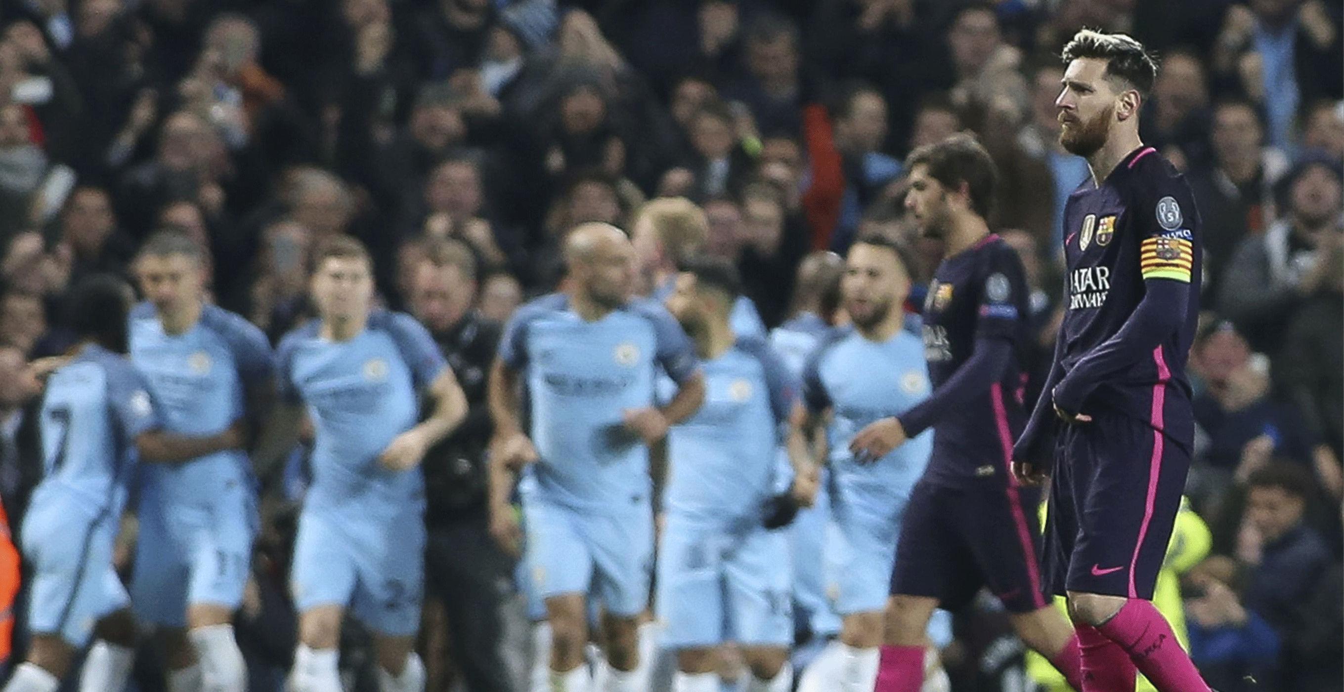 Las mejores imágenes del Manchester City - Barcelona (3-1)