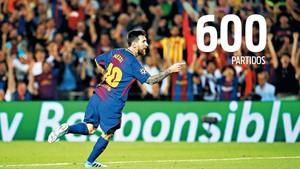 Leo Messi, a un partido de los 600 oficiales con el FC Barcelona. Los sumará este sábado en el Camp Nou contra el Sevilla FC