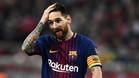 Leo Messi no pudo convertir ninguna de las acciones ofensivas que llevó a cabo ante el Olympiacos